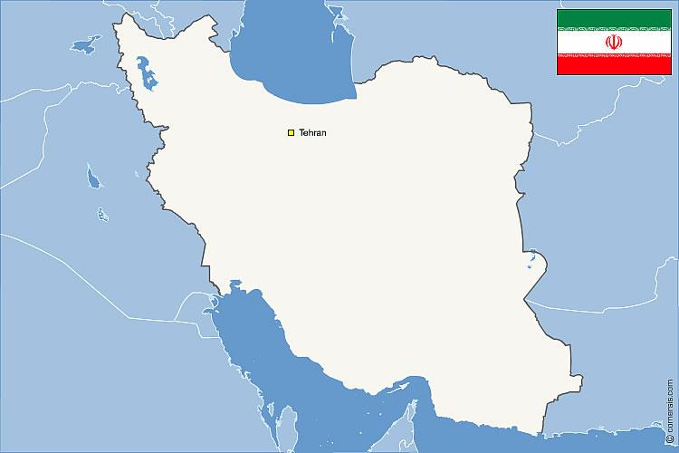 Iran et pays frontaliers vectorielle gratuite