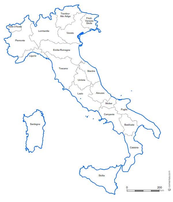 Régions d'Italie pour Office