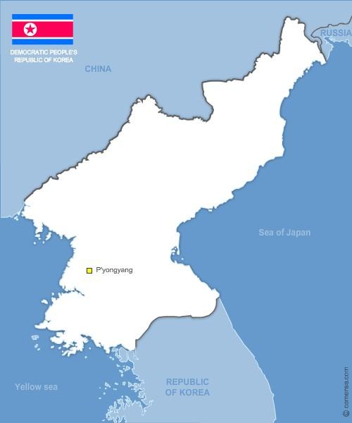 Corée du Nord vectorielle gratuite