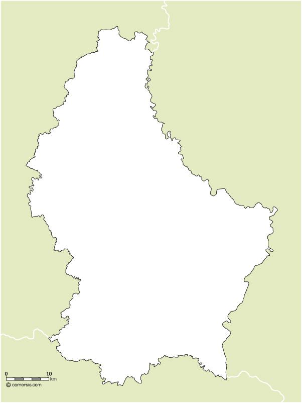 Fond de carte gratuit du Luxembourg