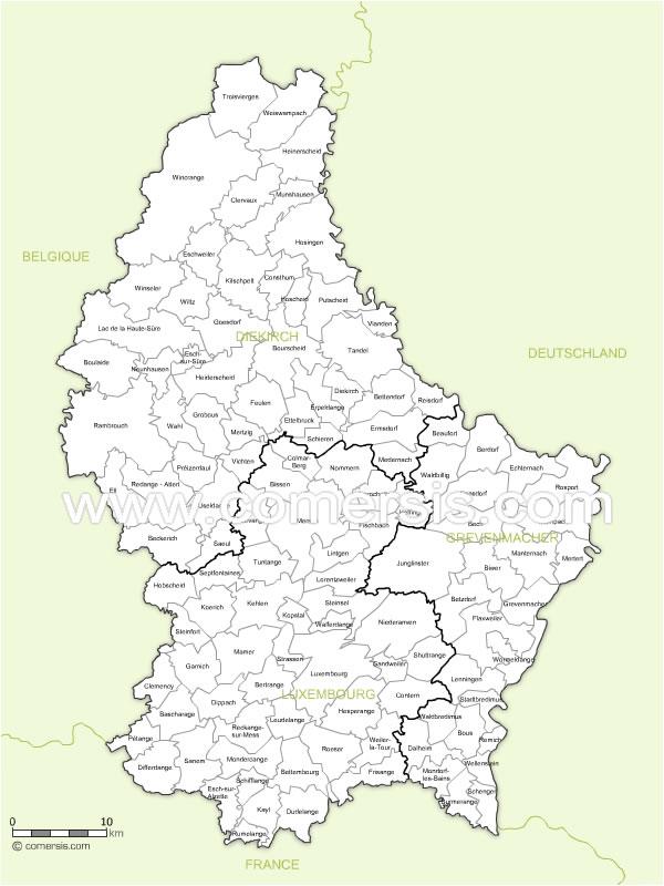 communes du Luxembourg 2010 avec noms