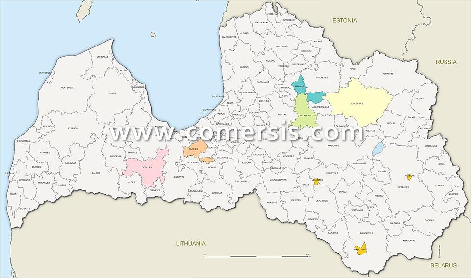 Municipalités de Lettonie (novads)