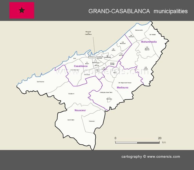 Municipalités de la région de Grand-Casablanca