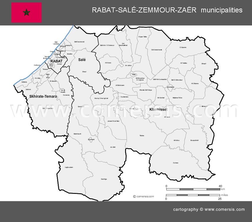 Municipalités de la région de Rabat Salé Zemmour Zaer