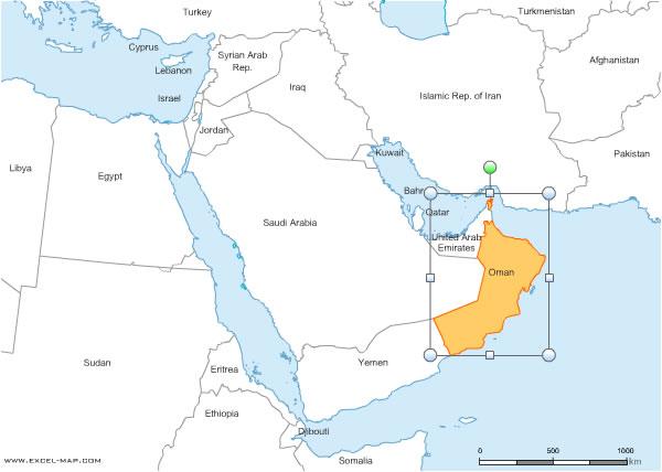 des pays du Moyen Orient pour Word et Excel