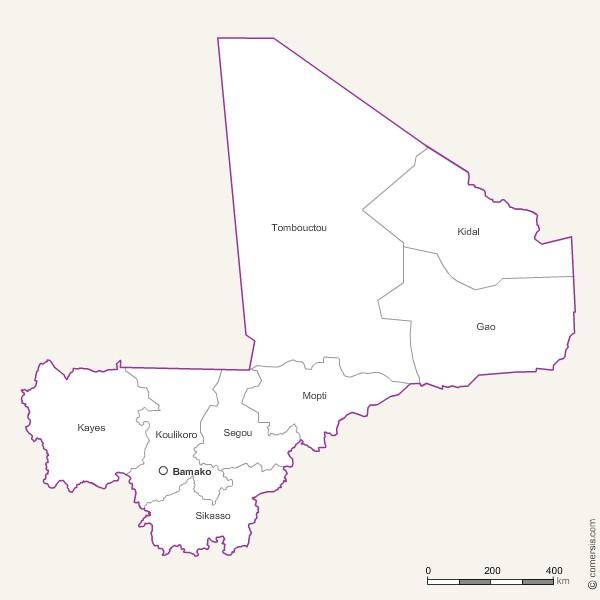 Photoshop et Jpg des régions du Mali
