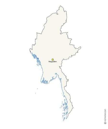 Fond de carte gratuit de Birmanie - Myanmar