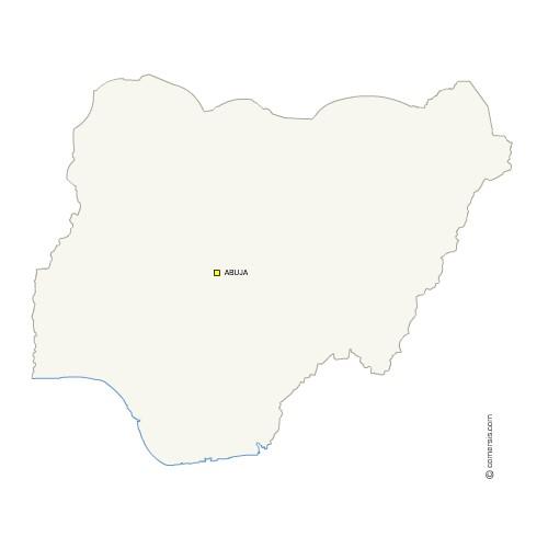 Fond de carte gratuit du Nigeria