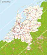 routes des Pays-Bas (Hollande)