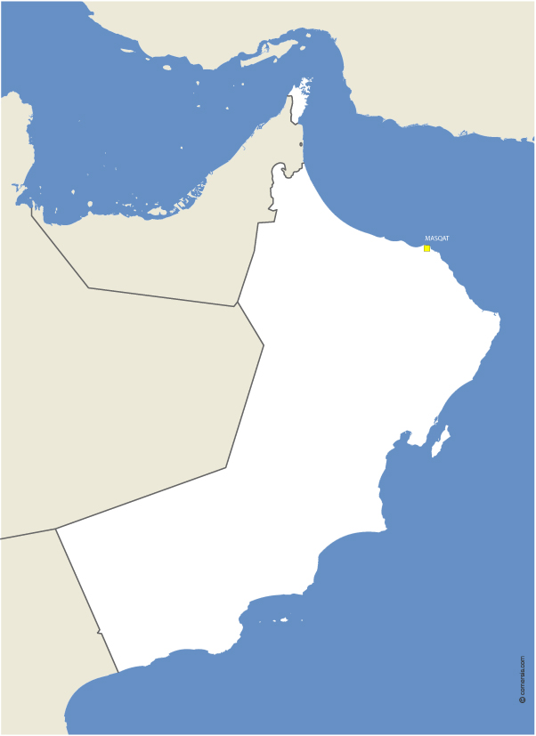free vector map of oman
