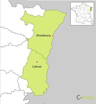 Carte Lalsace.Carte Region De L Alsace