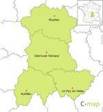 région de l'Auvergne
