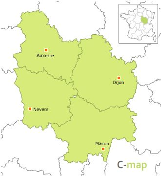 Carte D Ela Bourgogne.Carte Region De La Bourgogne