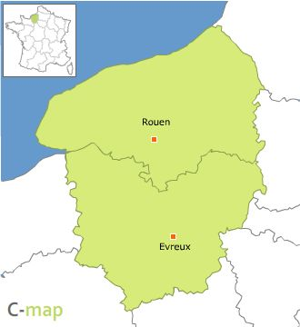 carte region haute normandie