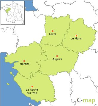 carte-pays-de-la-loire - Photo