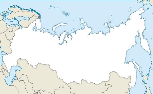 Fond de carte vectoriel de la Russie gratuit