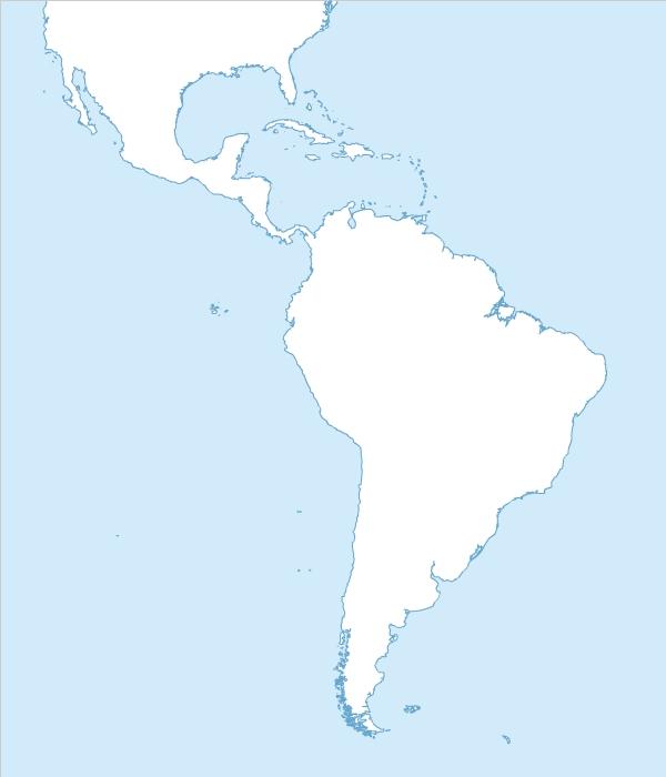 Fond de carte gratuit de l'Amérique du Sud