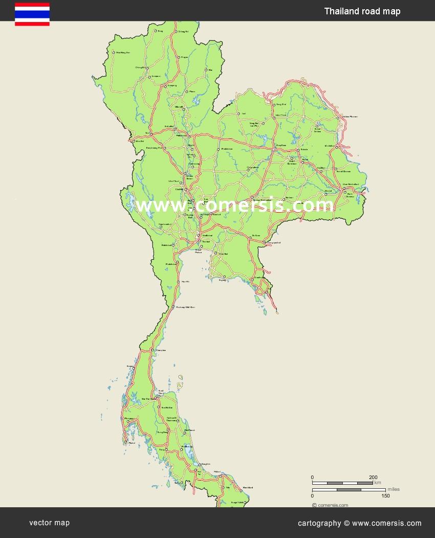 routes de Thaïlande