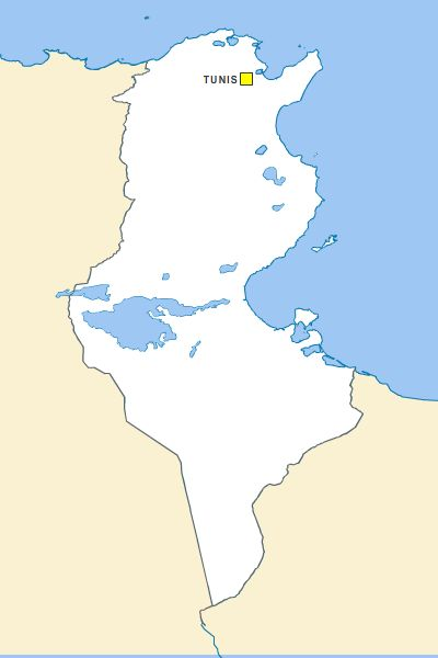 Fond de carte vectoriel de Tunisie gratuit