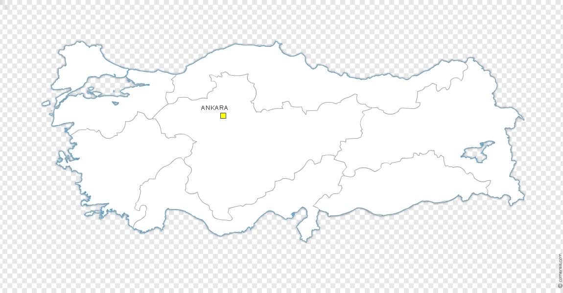 Régions de Turquie, carte gratuite.