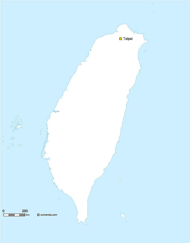 gratuite des contours de Taiwan vectoriel