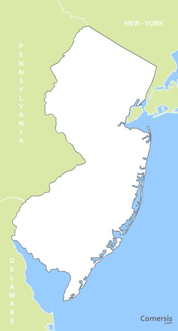 Map Of New Jersey New York. vector map of New Jersey