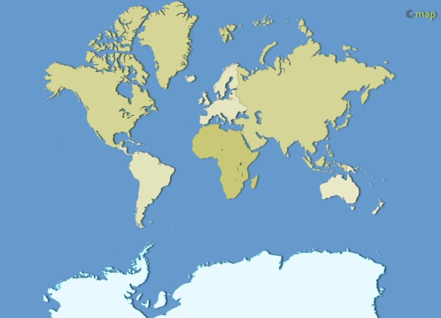 du monde par continent