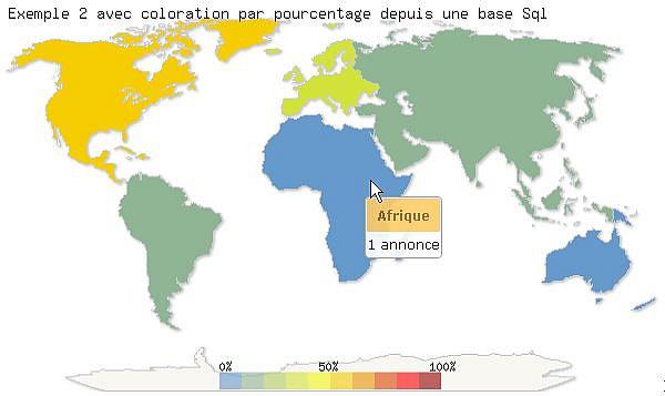 Du Monde Cliquable Dynamique Avec Affichage Des Résultats Par Continent