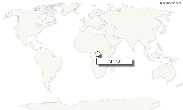 cliquable du monde gratuite par continent