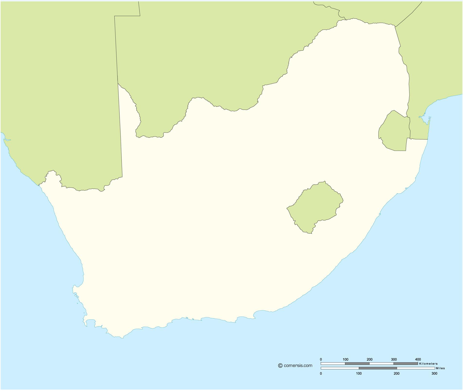 Fond de carte vectoriel gratuit de l' Afrique du Sud