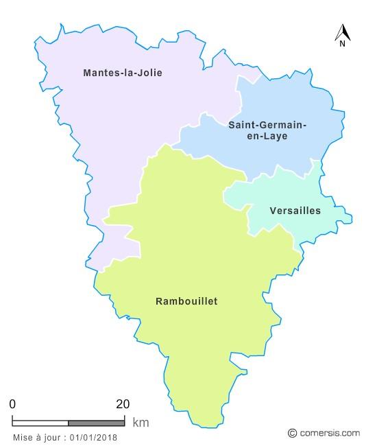 Fond de carte arrondissements 2018 des Yvelines